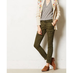 Pilcro Anthropologie Utility Army SKinny Pants
